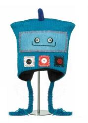 Шапка детская «Робот», бирюзовая, АК1562