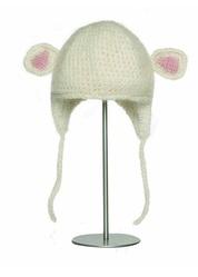Шапка детская «Ягненок», бело-розовая, АК1692