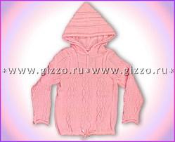 Джемпер шерстяной с капюшоном д/д 12761 розовый