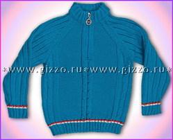 Джемпер-поло шерстяной д/мал 7484 синий